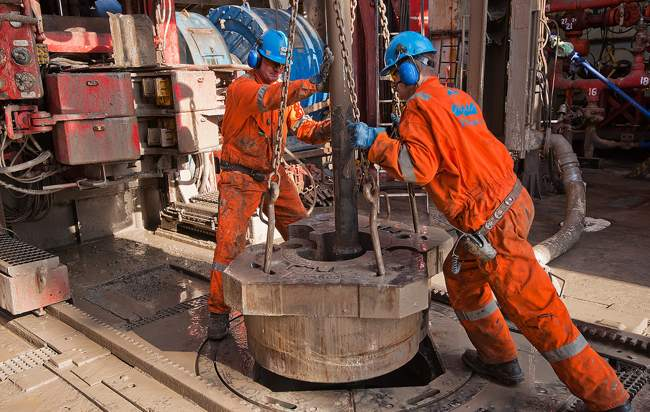 Shale Gas Drilling Workers