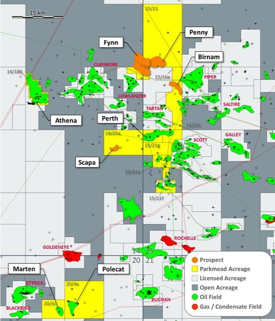 Parkmead Moray Firth Oil Field Map