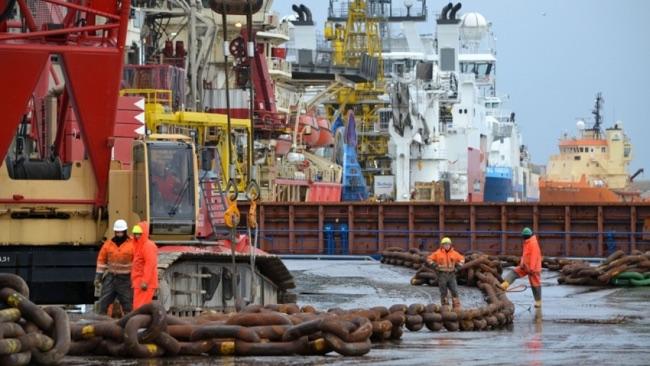 Shetland Harbour Workers