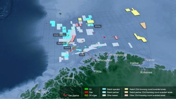 Statoil Raises Norwegian Continental Shelf Acreage
